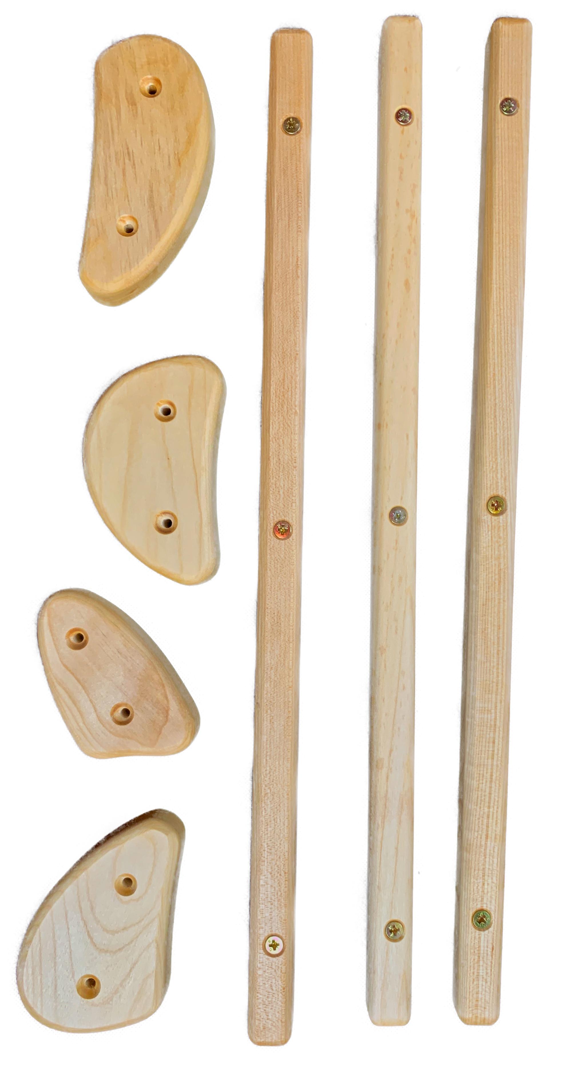 Kletterdreieck mehrfach verstellbar Birkenholz